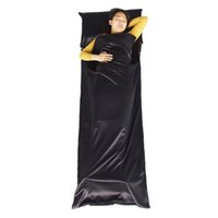 Wholesale Brand Single Sleeping Bag Liner With Pillow Outdoor Travel Portable Envelope Sleeping Bags Good Elastic force Mummy Sleeping Bag