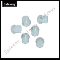 air surveillance - 100pcs mushroom silicone Earbud for two way radio surveillance kit tube earpiece earphone air tube earpiece replacement