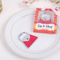 Wholesale Red Handbag Bottle Opener Delicate Gift Box Packing Wedding Part Gift Souvenirs