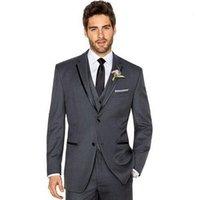 achat en gros de palefreniers costumes élégants-High qulity le costume de marié costumes de mariage élégant pour hommes en deux boutons de mode en trois pièces de smoking (veste + pantalon + veste)