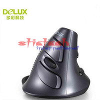 Wholesale by dhl or ems Wired Vertical Mouse Original M618 Ergonomic USB DPI Optical Right Hand Upright Mice for PC