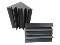 Wholesale 12 Charcoal Acoustic Bass trap Sponge for Corner Wall Sound Absorption Studio Foam
