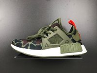 army camo netting - NMD XR1 Duck Camo Navy White Army GreenTop quality NMD III Net Surface Running Shoes Size Send With Original Box