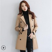 Wholesale Autumn outfit new female autumn coat Han edition of the British wind teamed female leisure trench coat