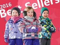 Wholesale 2016 hot sale Kids Ski Suit Girls Ski Jacket Children Ski Wear Gsou Snow parent child suit