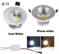 bathroom lamp fixtures - diammable Watts COB LED Ceiling Light Downlight Warm Cool White Spotlight Lamp Recessed Lighting Fixture Halogen Bulb Replacement