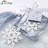 Wholesale Fashion Special Design wedding decoration Snowflake Bookmark wedding baby shower party favors gifts