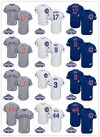 Wholesale Champions Chicago Cubs Jerseys Kris Bryant Javier Baez Anthony Rizzo David Ross Jake Arrieta RussellBaseball Jersey