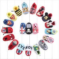 Wholesale Baby Girls First Walker Shoes Kids Cartoon Boys Spider Man And Smiley Shoes Children Soft Bottom Anti Slip Superman Shoes Toddler Footwear