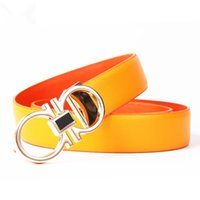 Wholesale new TOP Men Cowhide The fashion leisure Belt Genuine Leather Metal Buckle Buckle Gold Bucklee womens feragamo