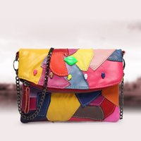 Wholesale 2017 spring and summer the new color irregular geometric stitching single shoulder oblique cross bag head