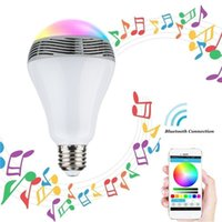 2.1 Universal MP3 Speaker Newest Bluetooth spearker LED Bulb LED music Light Bulb Wireless Speaker 2-in-1 Design for Smartphones with retail pack