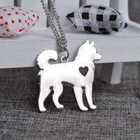 alaskan malamute dog - Husky Necklace Siberian Alaskan Malamute Akita Dog Necklace Personalized Memorial Gift Family Pet Necklaces Pendants Women