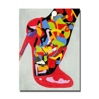 abstract heels - Modern figure pictures sexy dressing japanese nude women wear high heels sexy hot open oil painting