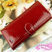 Wholesale New Fashion Ladies Genuine Leather Purse Women s Wallets Cowhide Colors Long Design Womens wallets And Purses Free Ship