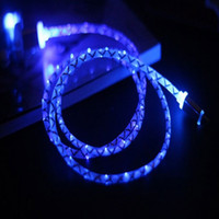 beautiful usb - Beautiful LED Light Metal Micro USB Speed Transmission Data Sync Fast Charge Cable for Samsung HTC LG Android Devices
