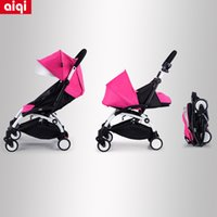Wholesale Necessary portable folding hot mama sit and down stroller ultralight easily folded four wheels aiqi pram bag mail color free of charge
