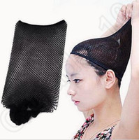 Wholesale Black Stretchable Elastic Hair Net Snood Mesh Wig Cap for Cosplay Weaving Wig Cap CCA5528