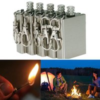Wholesale 1pc Safety Durable Emergency Fire Starter Flint Match Lighter Metal Outdoor Camping Hiking Instant Survival Tool