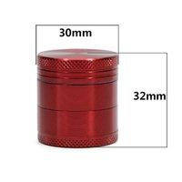 30mm Metal Grinders 4 piezas Herb Grinder Material de la aleación de aluminio 6 colores Availble 100% de alta calidad Herb Mill