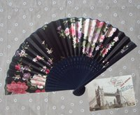 antique silk paintings - factory sell China China Factory Hand Painting classy Pink Silk Hand Fan Wedding Favor