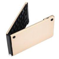 aluminum keyboard ipad - Universal Bluetooth Folding Mini Wireless Foldable Aluminum Alloy Keyboard For IPhone iPad iOS Android Smartphone Tablet R2