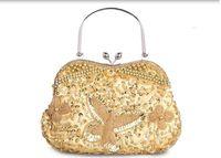 Wholesale New Style Minaudiere Evening Dinner Clutch Diagonal Bridal Bag Single Shoulder Hand Bag Beaded cheongsam Bag