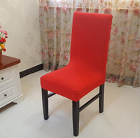 banquet room chairs - Fashion Red Dining Room Chair Cover For Hotel Party Wedding Banquet Chair Wedding Chair Covers