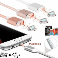 Wholesale Nylon weave magnetic Charger Cable sync Data cable high speed A Fasting Charging line for samsung s7 iphone ect DHL