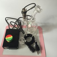 Glass Free Type D Nail ENail kit Updated d Nail Kit Dry Herbal Digital PID Electronic Dab Domeless Titanium Nail eNail WAX Vaporizer Recycler Glass concentrated oil rig Bong