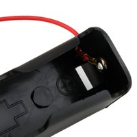 Wholesale DropShipping Plastic Battery Storage Case Box Holder for x Black with quot Wire Leads