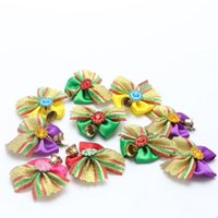 bell new shoes - Hug Me New Pet Supplies Flower Bell Headdress Fashion Colorful Cat Dogs Christmas Flower Rubber String Pet Ornament EC