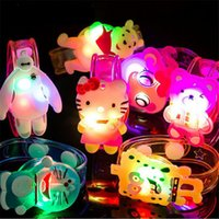 baby shower bracelet - Cartoon Animal LED Flash Emitting Bracelet children luminous colorful baby shower toys party birthday favor Children s Day Gift