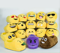 adult slipper pattern - Cute Emoji Slippers Winter Home Warm Indoor Soft Cozy Floor Slip On Shoes with Patterns For Unisex Adults Free Size
