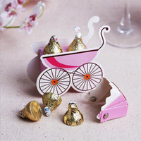 baptism party food - Creative Stroller Shape Wedding Candy Box Party Baby Shower Baptism Favor Paper Gift Boxes Packing Party Supplies ZA1392