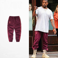 Wholesale Kanye West Unisex Jogger Pant Red SEASON Star Pants For Jogging Exercise and Fitness For Man Woman