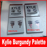 Wholesale In stock Kylie jenner eyeshadow kit Kyshadow matte Cosmetics Palette Bronze burgundy eye shadow color