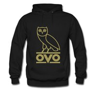 Wholesale Mens OVO Bird Hooded Long Sleeves Thick Cotton Hoodies Sweatshirt