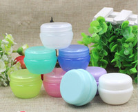 Wholesale 5g g g g Cosmetic Empty Jar Pot Eyeshadow Makeup Face Cream Lip Balm Container Bottle cosmetic bottle packaging