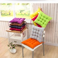 Wholesale Colorful Sofa Decor Square Office Back Car Cushion Thick solid color sanding chair pillow