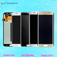 Wholesale New Original LCD Display Touch Screen Panels Assembly for Samsung Galaxy S7 Edge G935 G935A G935V G935P G935T G935F Gold Silver Black White