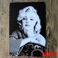 Wholesale Marilyn Monroe sexy Metal Tin Sign Poster hobn Retro Classical Tin Bar pub home Wall Decor Retro Tin Poster newest