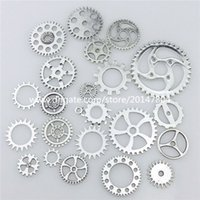 american craft - 20669 Mixed Vintage Silver Alloy Whell Gear Pendant Craft Jewelry Findings