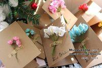 Wholesale Flowers birthday card Thanksgiving gift cards card art fresh employee card Christmas card invitation card