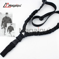 american rifle - Magaipu American High Quality Canvas One Single Point Adjustable Bungee Rifle Gun Sling Strap System Tactical Hunting Gun Sling