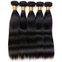 El pelo malasio de la Virgen de Vinsteen recto 5 agrupa la alta calidad de las extensiones del pelo humano de 100g / pc puede ser teñido Ningún enredo sin procesar El envío libre