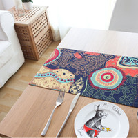 100% Linen asian table linens - Southeast Asian sun flower mat table runner retro Chinese cotton fabric double table tablecloth bed flag features