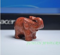 Wholesale Best Gift Chinese Natural Golden Sand Stone Statue DongLing Jade Elephant Statues