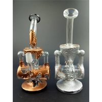 Wholesale WP271 Double Recycler Heady Oil Rigs Unique Dab Rigs Mini Glass Water Pipes Colored Bubbler Water pipes H