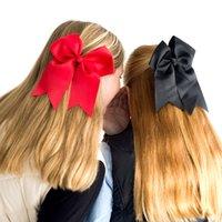 achat en gros de cheveux cercle des bandes de caoutchouc corde-Vente en gros 100 pcs / lot Boutique Enfants Big Bow Knot Cheveux Rope Girl Rubber Band Princess Hair Cercle 20 couleurs Factory Vente directe HC004